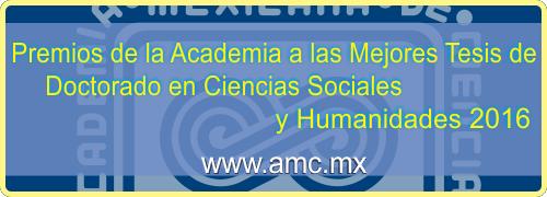 Premio Tesis Sociales y Humanidades